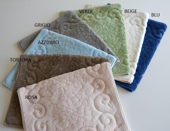 Tris parure tappeti bagno articolo regal vari colori ebay